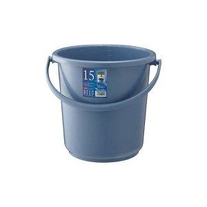 (まとめ)リス ベルクバケツ 15LSB 本体 ブルー GBEC197【×10セット】