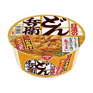 (まとめ)日清食品 日清のどん兵衛かき揚げ天ぷらうどん 97g 1ケース(12食)【×4セット】