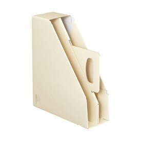 (まとめ)コクヨファイルボックス[KaTaSu]取っ手付き・スタンドタイプ オフホワイト フ-KES470W 1冊 【×10セット】