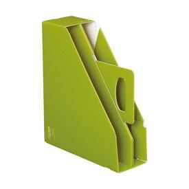(まとめ)コクヨファイルボックス[KaTaSu]取っ手付き・スタンドタイプ グリーン フ-KES470G 1冊 【×10セット】