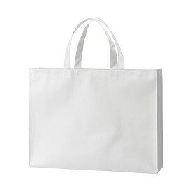 (まとめ) TANOSEE 不織布バッグ 大ヨコ530×タテ400×マチ幅120mm ホワイト 1パック(10枚) 【×3セット】