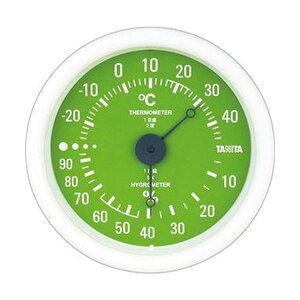 【クーポン配布中】(まとめ)タニタ アナログ温湿度計 グリーンTT-515-GR 1個【×10セット】