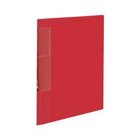 コクヨ クリヤーブック(ノビータ)(ウェーブカットポケット・固定式)A4タテ 40ポケット 背幅9〜50mm 赤 ラ-TN570R 1セット(10冊)