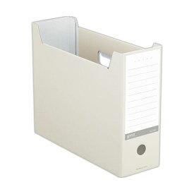(まとめ) コクヨ ファイルボックス(NEOS)A4ヨコ 背幅102mm オフホワイト A4-NELF-W 1セット(10冊) 【×10セット】