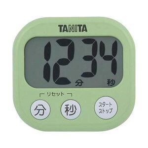 【クーポン配布中】(まとめ)タニタ でか見えタイマーピスタチオグリーン TD-384GR 1個【×20セット】