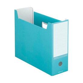 (まとめ) コクヨ ファイルボックス(NEOS)A4ヨコ 背幅102mm ターコイズブルー A4-NELF-B 1冊 【×30セット】