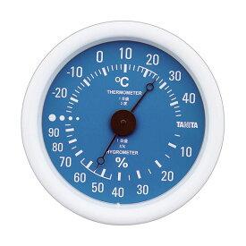 【スーパーセールでポイント最大44倍】(まとめ)タニタ アナログ温湿度計 ブルーTT-515-BL 1個【×5セット】