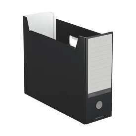 (まとめ)コクヨ ファイルボックス(NEOS)A4ヨコ 背幅102mm ブラック A4-NELF-D 1セット(10冊) 【×3セット】