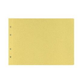 (まとめ) コクヨ 綴込表紙C クラフトタイプB4ヨコ 4穴 ツ-53 1セット(10組20枚:1組2枚×10パック) 【×10セット】