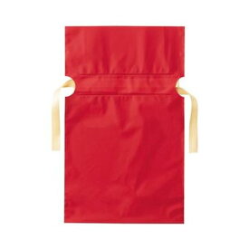(まとめ)店研創意 ストア・エキスプレス梨地リボン付ギフトバッグ レッド 17cm 1パック(20枚)【×20セット】