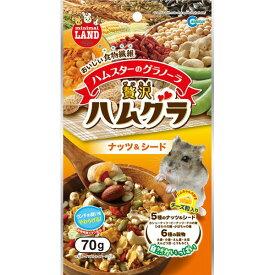 (まとめ)贅沢ハムグラ ナッツ&シード 70g(ペット用品)【×12セット】