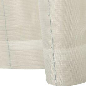 刺繍 レースカーテン ライン柄 幅150×丈176cm 1枚入 ブルー ピコン 九装