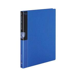 【クーポン配布中】コクヨ ポストカードホルダー(替紙式)A4タテ 30穴 100枚収容 青 ハセ-120B 1セット(4冊)