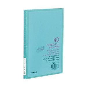 (まとめ)コクヨ ポストカードホルダー(キャリーオール)(固定式・ミニタイプ)A6タテ 40枚収容 緑 ハセ-6g 1セット(10冊)【×5セット】
