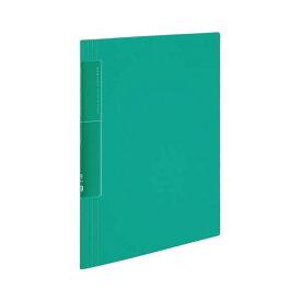 コクヨ クリヤーブック(ノビータ)(ウェーブカットポケット・固定式)A4タテ 20ポケット 背幅5〜40mm 緑 ラ-TN560g 1セット(10冊)