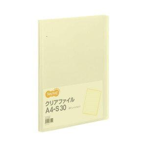 【クーポン配布中】TANOSEE クリアファイル A4タテ 30ポケット 背幅17mm イエロー 1セット(60冊)
