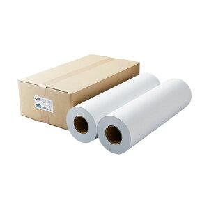 (まとめ)TANOSEEPPC・LEDプロッタ用普通紙 A1ロール 594mm×200m 3インチ紙管 素巻き 1箱(2本)【×3セット】