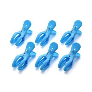 (まとめ) フィットピンチ/洗濯バサミ 【Y型 6個入り】 直径2.5〜4cmの物干し竿に対応 洗濯用品 【×60個セット】
