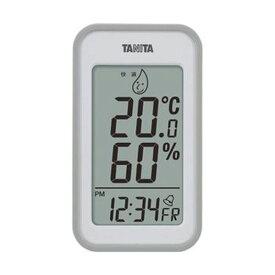 【スーパーセールでポイント最大44倍】(まとめ)タニタ デジタル温湿度計 グレーTT559GY 1個【×5セット】