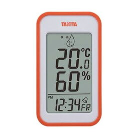 【スーパーセールでポイント最大44倍】(まとめ)タニタ デジタル温湿度計 オレンジTT559OR 1個【×5セット】