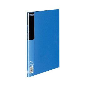 コクヨ クリヤーブック(ベーシック)固定式 A4タテ 10ポケット 背幅10mm 青 ラ-B10B 1セット(10冊)