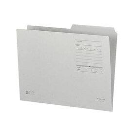 (まとめ)コクヨ 1/2カットフォルダー(カラー・Fタイプ)A4 グレー A4-2FF-M 1セット(10冊)【×20セット】