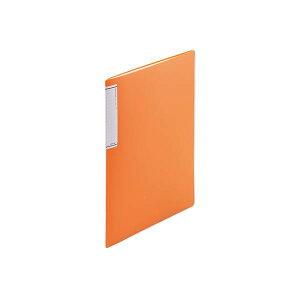 (まとめ) LIHIT LAB TEFFA クリヤーブック(スリムタイプ) A4判タテ型 10ポケット 橙 【×20セット】