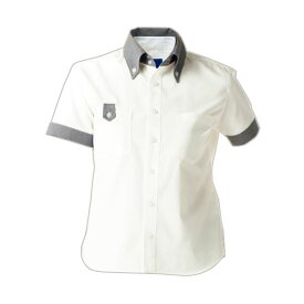 (まとめ) セロリー 半袖シャツ(ユニセックス) Lサイズ ホワイト S-63408-L 1枚 【×5セット】