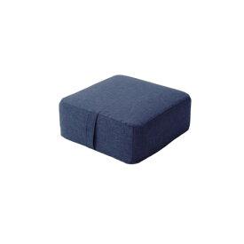 低反発 ミニフロアクッション/座布団 【スクエアタイプ インディゴブルー】 幅38cm 洗えるカバー付き 低反発ウレタン 〔リビング〕【代引不可】