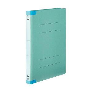 (まとめ)TANOSEEフラットファイル(背補強タイプ) 厚とじ A4タテ 250枚収容 背幅28mm ブルー 1パック(10冊) 【×5セット】