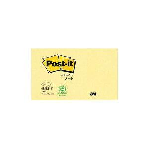 (まとめ) 3M ポスト・イット ノート再生紙スタンダードカラー 75×127mm イエロー 655RP-Y 1冊 【×50セット】