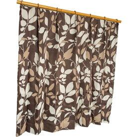 カーテン 洗える ウォッシャブル 洗える 防炎 2級遮光 150×丈225cm ブラウン パルク 九装