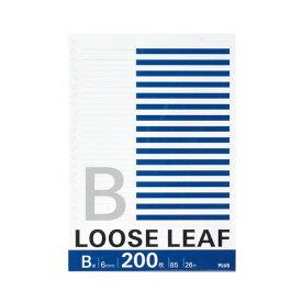 【スーパーセールでポイント最大44倍】(まとめ) プラス ルーズリーフ B5 B罫 26穴NL-200B 1パック(200枚) 【×30セット】