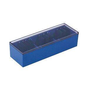 (まとめ)キングジム 名刺整理箱 約1000枚収納青 75 1個 【×5セット】