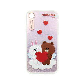 LINE FRIENDS iPhone XR LIGHT UP CASE CUPID LOVE スウィートハート1