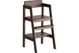 ベビーチェア ブラウン ハイチェア 木製 高さ調節 ダイニングチェア ベビーチェアー 子供 2歳 食事 椅子 赤ちゃん 椅子 テーブルベビーチェア キッズチェア Kids High Chair -stair- ilc-3340