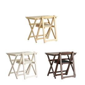 デスク チェア セット ナチュラル 木製 折りたたみ 折りたたみテーブル 折りたたみ椅子 折りたたみチェア 椅子 完成品 作業机 学習机 キッチン 作業台 コンパクト シンプル テーブル 北欧 木製 勉強机 テレワーク 在宅 リモート Desk & Chair Set ts-3404