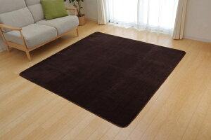 ラグカーペット3畳洗える抗菌防臭無地『ピオニー』ベージュ約200×250cm(ホットカーペット対応)
