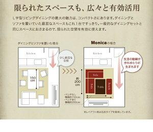 【単品】アームソファ【Monica】右アームセットアメリカンヴィンテージリビングダイニング【Monica】モニカ【代引不可】