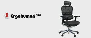 オフィスチェアアームレスト付きランバーサポート付きErgohumanPRO(エルゴヒューマンプロ)ハイタイプグリーン【代引不可】