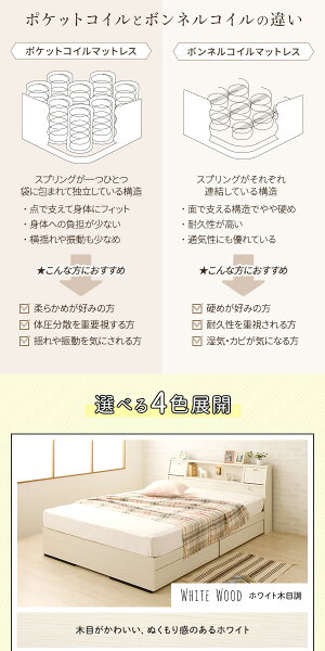 【組立設置費込】日本製照明付きフラップ扉引出し収納付きベッドシングル(ポケットコイルマットレス付き)『AMI』アミホワイト木目調宮付き白【代引不可】