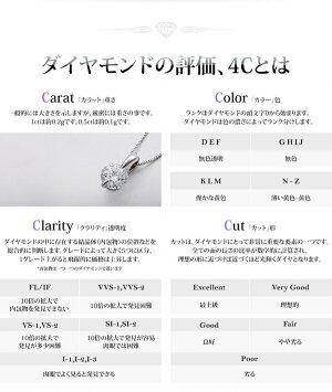 純プラチナ0.5ctダイヤモンドペンダント/ネックレススクリューチェーン(鑑別書付き)