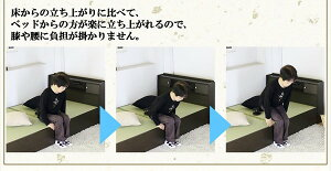 棚照明収納付き畳ベッドシングルブラウンA151-50-S(畳)【代引不可】