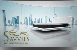 マットレスクイーン【SAVVIES】スイートS10高密度2層コイル(ポケット×ポケット)寝心地が進化する新快眠構造スタックマットレス【SAVVIES】サヴィーズ