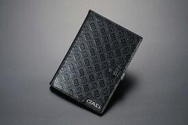 【あす楽】GARSON オーナーズレザーケース モノグラムレザー ブラック HA437-01 車検証入れ ギャルソン