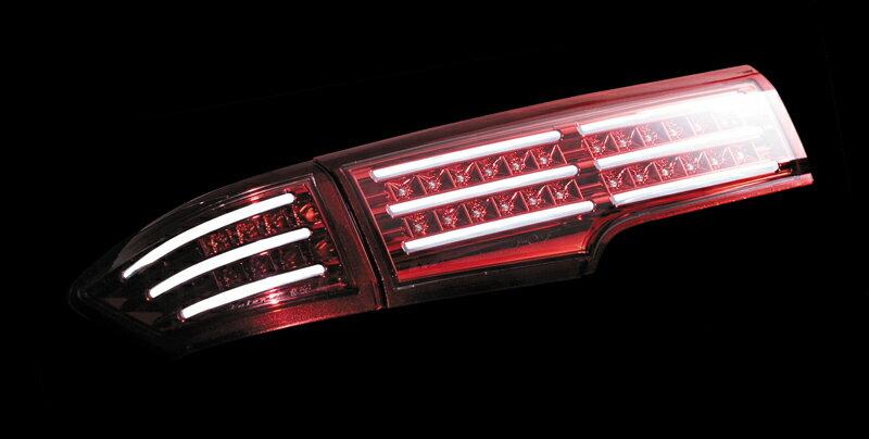 【送料無料】Valenti LED テールランプ エルグランド E52 クリア/レッドクローム レッドクロームガーニッシュ TN52EL-CR-RC-1 車検対応 ヴァレンティ ELGRAND【RCP】