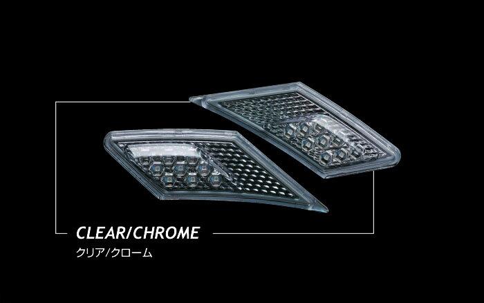 【あす楽】【送料無料】Valenti LED サイドマーカー 86/BRZ SDM86Z-CC クリア/クローム 車検対応 ヴァレンティ【RCP】