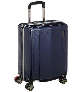 【あす楽】【送料無料】TRD ポリカーボネートキャリーケース 縦型 0836800-NV ネイビーカーボン柄 4輪式 38L 3.2kg 国際線機内持込可能 TSAロック機能搭載 [キャリーカート][キャリーバッグ][スーツ