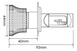 【送料無料】スフィアLEDヘッドライトライジング2SRH4B060H4Hi/Lo切替6000K24V車専用日本製3年保証SPHERELIGHTスフィアライトRIZINGLEDヘッドランプ