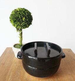 【最大3000円OFFクーポン配付中】かもしか道具店ごはんの鍋 3合炊き ブラック ゆうパック発送 日本製